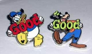 2010 Hidden Mickey GOOD Donald Goofy Disney Pin SET WDW
