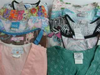 Medical Dental Vet Scrubs Lot 10 Print Design Shirts Tops Med Medium M