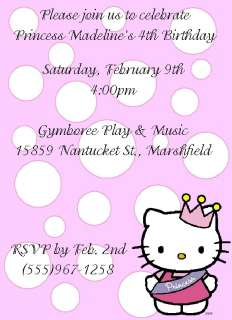 Set of 2 Hello Kitty Princess Birthday Invitations