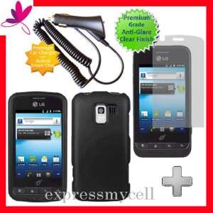 + BLACK Hard Case Cover for Straight Talk NET 10 LG OPTIMUS Q