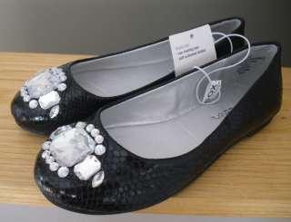 New Girl Black Ballet Flat Dress Shoe Xhilaration Gems Casual Genice