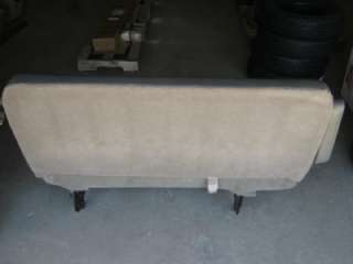 03 07 Chevy Express Van 3rd Row Gray Vinyl Bench Seat