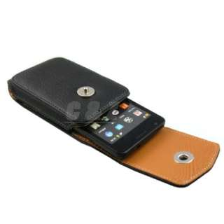 Leather Case Belt Clip Pouch + LCD Film for Samsung Galaxy S II i9100