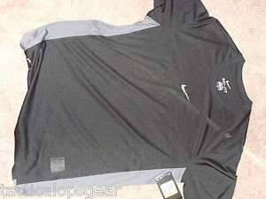 Nike Dry Fit Training Tee Stay Cool S/S Loose T Shirt Black Gray