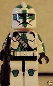 Star Wars custom Lego minifig Clone Wars Commander Gree
