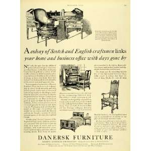 1930 Ad Vintage Furniture George Washington Desk Chair