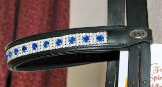 FSS SAPPHIRE BLUE 8mm DOT Rhinestone Crystal Browband