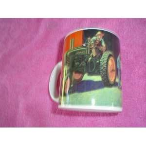 JOHN DEERE TRACTOR AND STEER 8 OZ COFFEE MUG: Kitchen