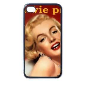 Marilyn Monroe v4 4/4s Seamless Case (Black): Electronics