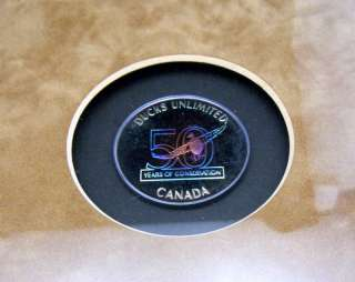 Ducks Unlimited 50th Anniversary Canada Stamp Medallion