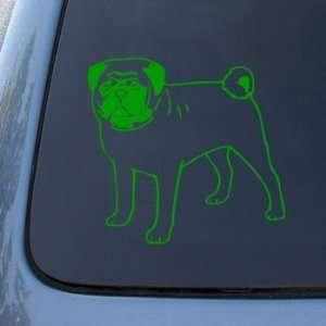 PUG   Dog   Vinyl Car Decal Sticker #1546  Vinyl Color
