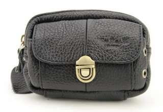 Leather Belt Waist Bum Fanny Belly Pouch Zipper Bag Cell phone Case