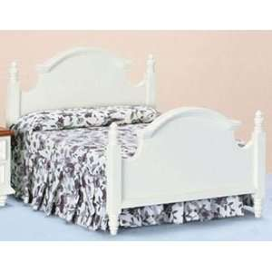 Dollhouse Miniature White Double Bed