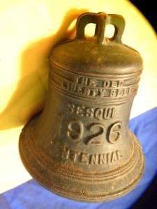 THE OLD LIBERTY BELL CAST IRON BANK SESQUI CENTENNIAL PHILADELPHIA