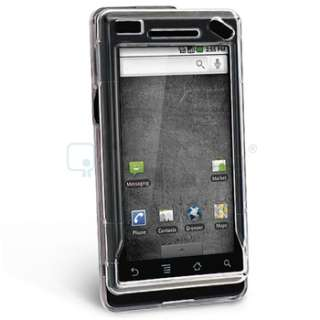 MOTOROLA DROID A855 CASE+CAR+HOME CHARGER+CABLE+LCD Accessory Bundle