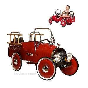 Jalopy Model 1929 Pedal Fire Truck   Red Baby