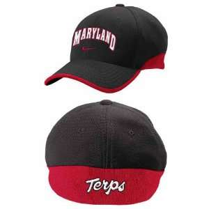 Nike Maryland Terrapins Black Players Hat  Sports
