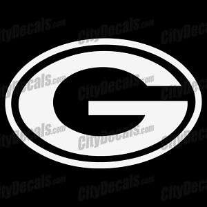 12 GREEN BAY PACKERS G LOGO   VINYL WINDOW DECAL