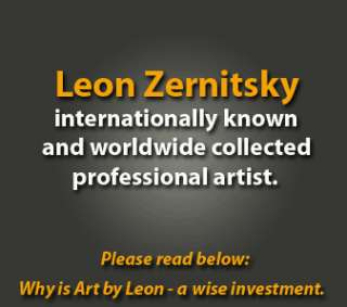 ORIGINAL OIL MODERN PAINTING BY LEON ZERNITSKY