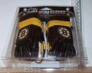 NHL Boston Bruins Mini Hockey Gloves NEW