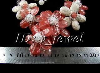 Turquoise Crystal flower necklace/earring set VJ