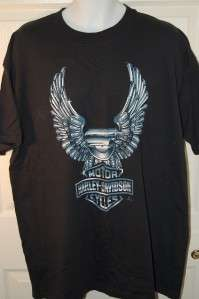 Harley Davidson XL Mens Shirt X Large Black Tee CHROME