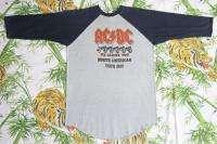 AC/DC Vintage Concert SHIRT 80s TOUR T RARE ORIGINAL 1982 Raglan