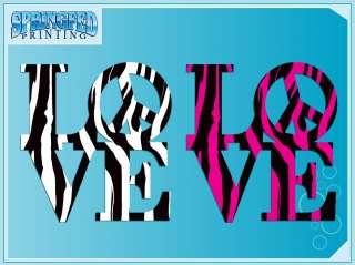 LOVE PEACE ZEBRA Stripes vinyl decal car sticker #1