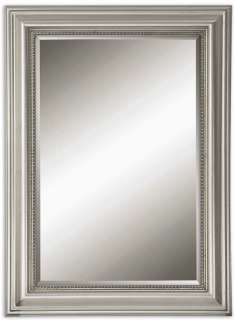 Stuart Silver Rectangular Beveled Wall Mirror