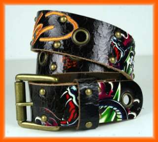 Ed Hardy Mens Belt New York SNAKE New Crackle EN1275