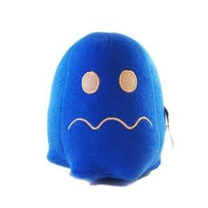 Man Plush Toy Video Edition   Pac Man Ghost Blue (6) Toys & Games