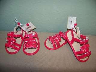 Old Navy Infant Toddler Girls Red Sandals