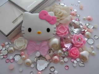 Deco DIY Kit Pink Hello Kitty Flower DIY Case Cover For I Phone 4 4G 3
