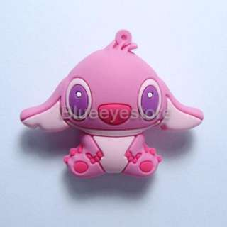 4GB Cute Cartoon Pink Stitch USB 2.0 Flash Memory Pen Stick Drive Real