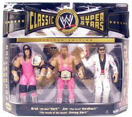 WWE HART FOUNDATION Jakks Action Figure RARE 3 Pack NEW Bret~Jimmy~Jim
