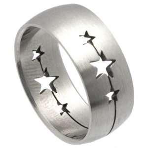 Stainless Steel Laser Cut Rings   Shooting Stars