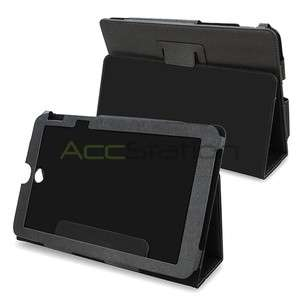 For Toshiba Thrive Tablet 10.1 Black Leather Skin Cover Case Pouch