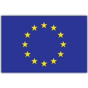 European Union Europe Flag car bumper sticker 4 x 5