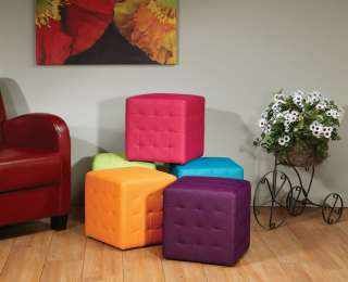 Collection Weave Pattern Ottoman Footstool Side Accent Tables