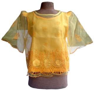 Philippines FILIPINIANA COSTUMES Blouse & Skirt SET New