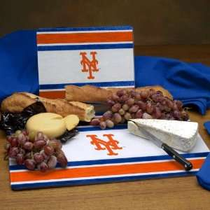 NEW YORK METS Team Logo Glass CUTTING BOARD SET of 2 (12