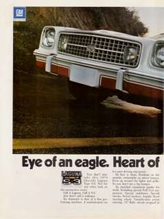 1974 Chevy Chevelle Laguna Type S 3 Photo 2pg print ad