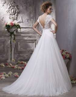 2012 New Elegant White Tulle Lace wedding gowns and bridal dress