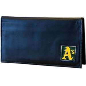 Oakland Athletics Embossed Leather Checkbook Cover   MLB