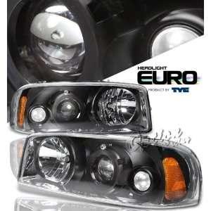 00 06 GMC Sierra Denali Projector Headlights   Black by