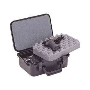 XLT 12 2 Pistol Gun Case, Keylock Latches, Black, Warranty