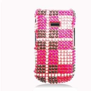 Factor M260 Accessory   Pink Plaid Full Rhinestones Hard Case Proctor