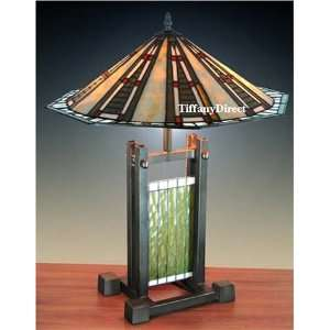 Tiffany Style Stained Glass Table Desk Lamp Mission T1860