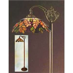 Tiffany Style Stained Glass Floor Bridge Lamp FB1410