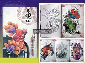China Sketch Rare Koi Tattoo Flash Book Magazine Art Design Manuscript